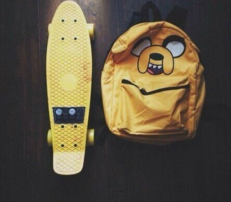 bag adventure time yellow need this bagpack