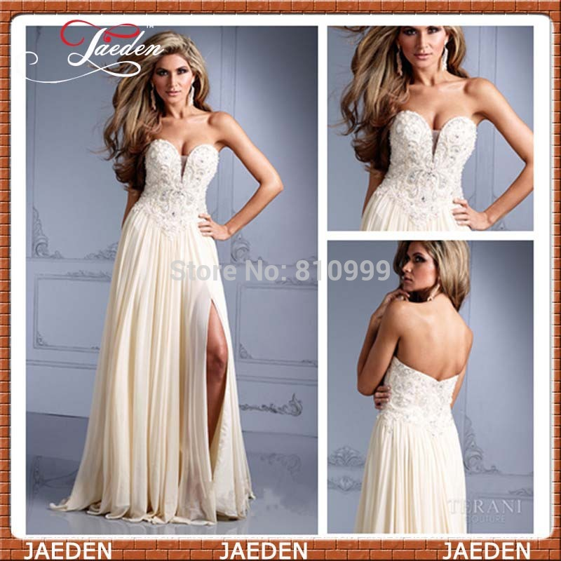Aliexpress.com : buy 2014 sexy charming woman special occasion evening dress sweetheart side slit beaded corset lady prom gowns custom 2014 from reliable corsets stories suppliers on suzhou jaeden garment co., ltd.