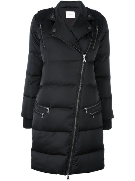 Pierre Balmain coat women quilted black