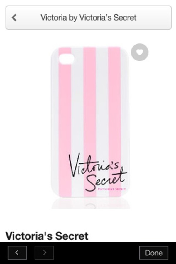 jewels victoria's secret stripes pink white iphone4-4s