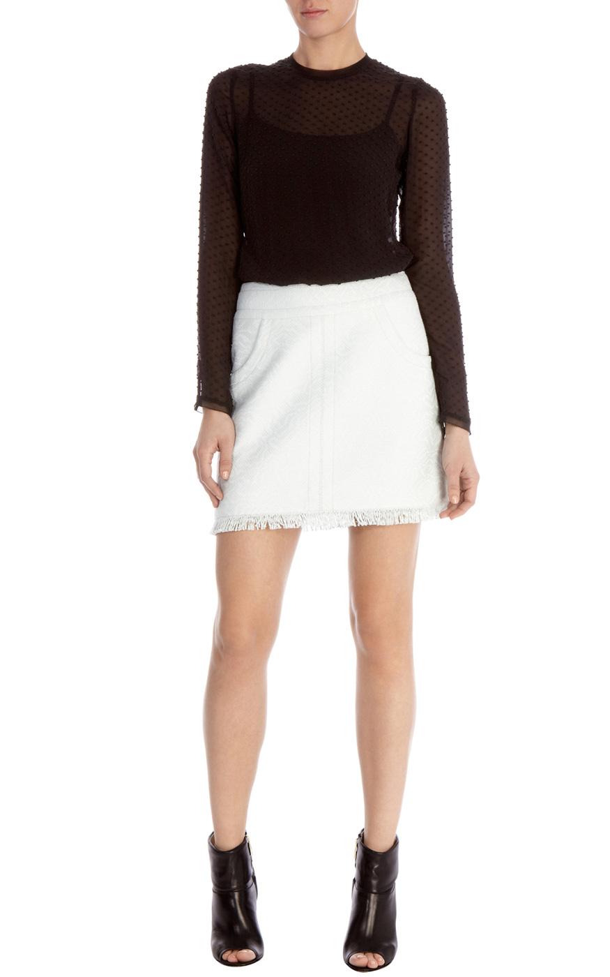 Sale Röcke | Grün Kollektion aus sommerlichem Tweed | Damenmode | Karen Millen