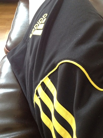 shorts adidas yellow black workout