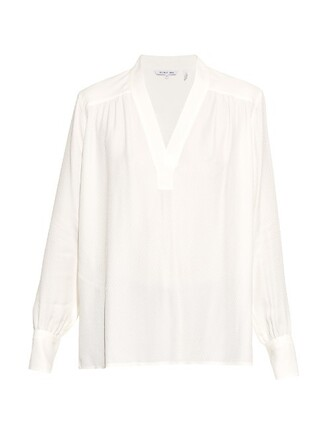 shirt jacquard white top