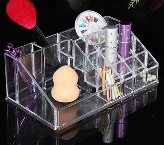 make-up clear storage beauty organizer