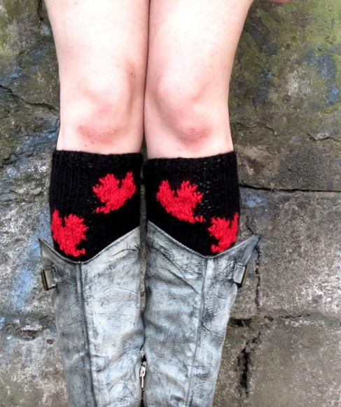 valentine socks red heart winter heart cuffs boots boho knit boot cuffs legwarmer valentine day winter boots hearts legwear legwarmers
