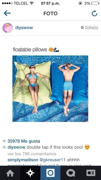home accessory floating pillow pool lifestyle pool accessory pool party