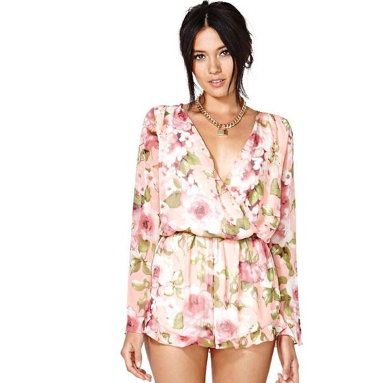 FLORAL PLAYSUIT / back order – HolyPink