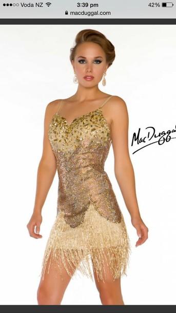 dress sequin dress sequins embellished fringed dress flapper cocktail dress 30s style
