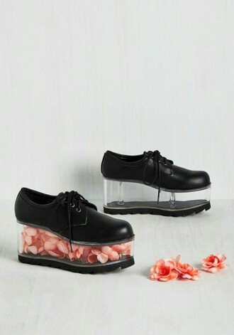shoes black platform shoes lace up derbies