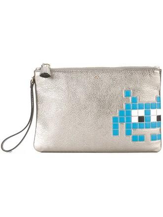 space clutch metallic bag