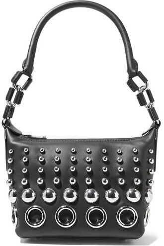 mini embellished bag shoulder bag leather black