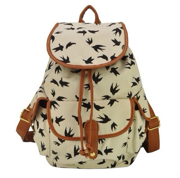 bag backpack black birds