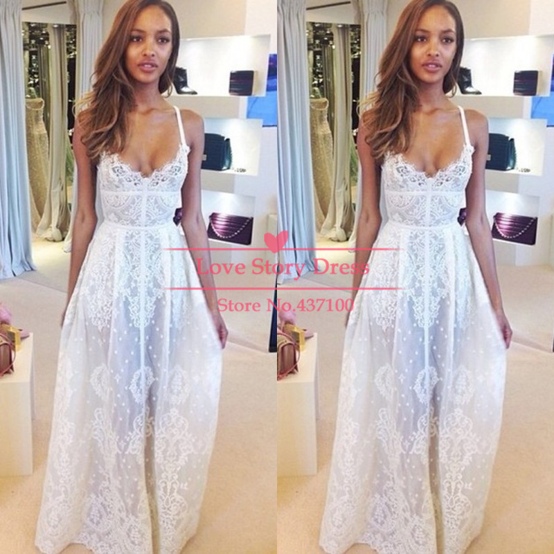 Aliexpress.com : buy spaghetti strap see through sheer long sexy a line 2014 lace prom dress all white dress party dress from reliable dress overlay suppliers on suzhou lovestorydress co. , ltd