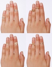 jewels,above the knuckle ring