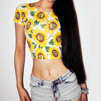 Sunflower crop top · electric shop · online store powered by storenvy
