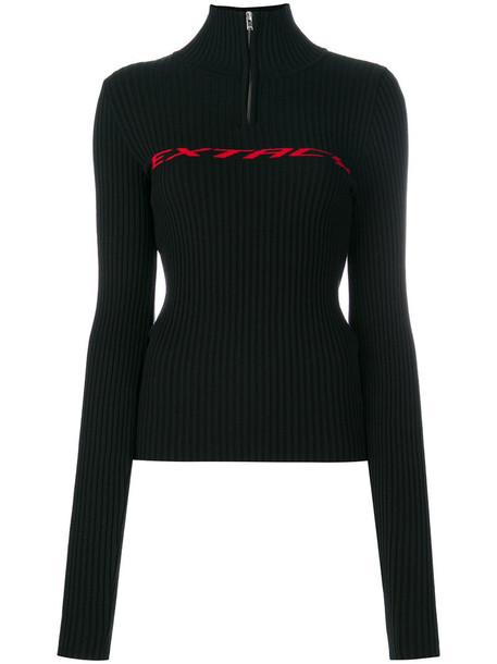 Misbhv pullover turtleneck zip women black sweater