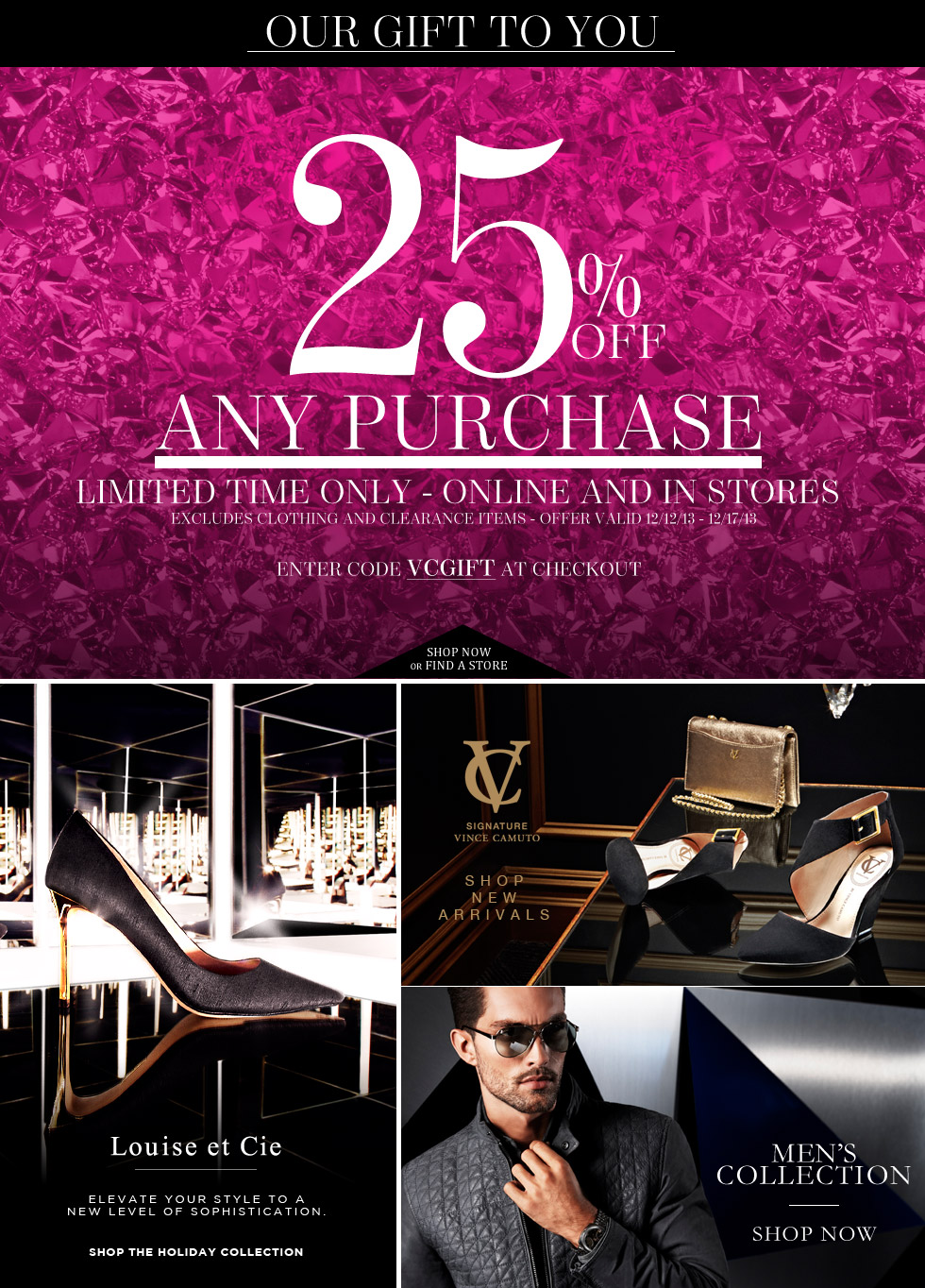 Designer  Shoes, Designer Handbags, Clothing & Perfume -  Vince Camuto