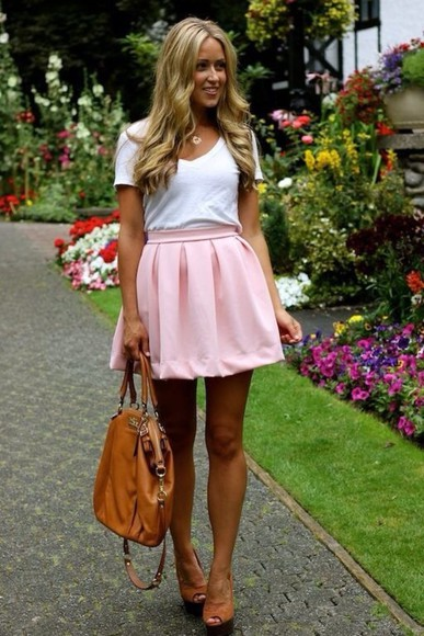 skirt circle skirt pink chiffon skirt