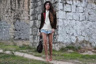 madame rosa jacket shorts sweater shoes shirt bag