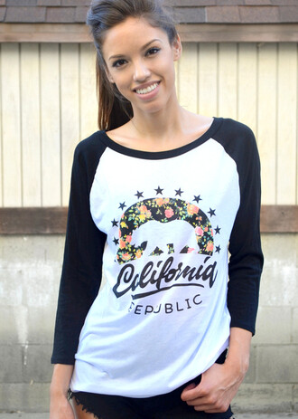 shirt california baseball baseball tee