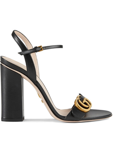gucci women sandals leather sandals leather black shoes