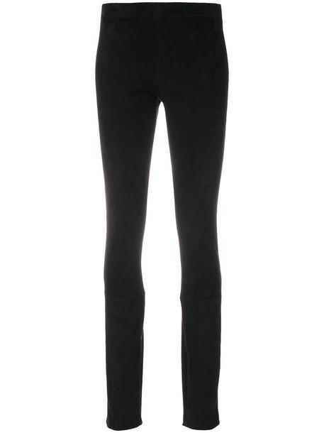 Haider Ackermann leggings women leather black pants