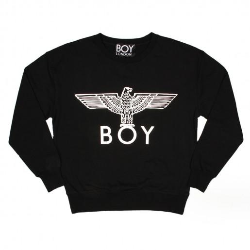 Boy London Eagle Logo Sweater in Black - At Aphrodite Mens Designer Clothing Online
