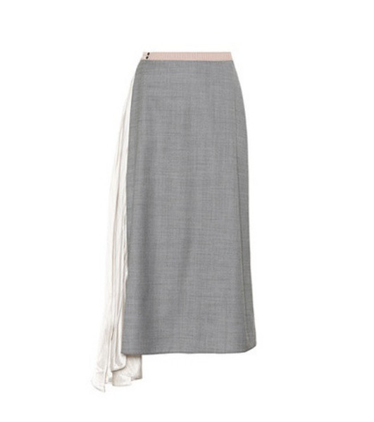 Prada Wool and silk skirt in grey