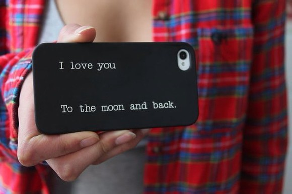 quote on it phone case iphone case moon and back looks like it's matte iphone 5 iphone 5s