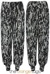 pants,discharge,print,leggings,black and white,hareem pants,hippie
