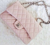 bag,chanel,pink,chain strap,lightpink