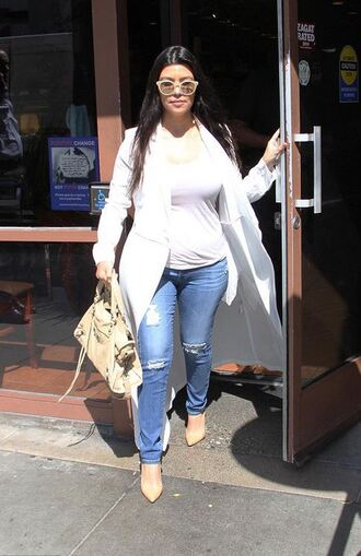 jeans pumps kourtney kardashian jacket coat shoes