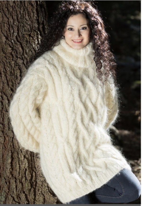 sweater big fluffy sweater dress