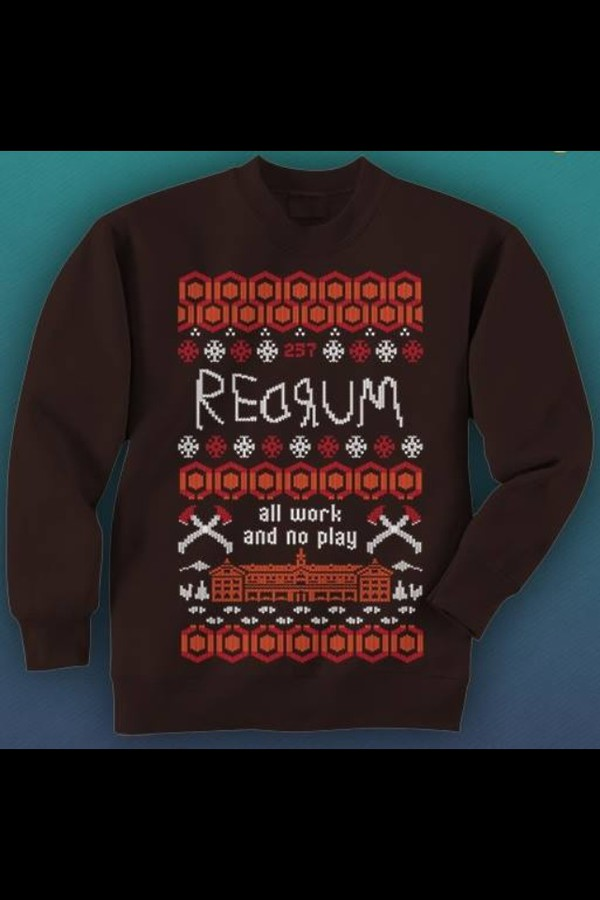 the shining sweater christmas sweater horror