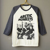 sweater,arctic monkeys,t-shirt,grey,white