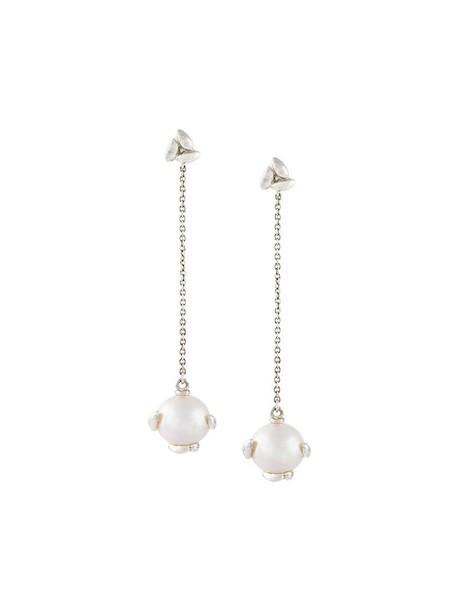 BEA BONGIASCA pearl earrings metallic jewels