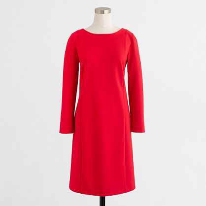 Long-sleeve ponte dress