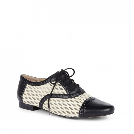 Sole Society - Lace up oxfords - Liesy - Black Ecru