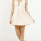Waffle textured pleat skater dress
