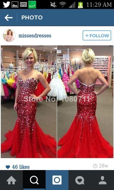 dress red dress sparkly dress prom dress