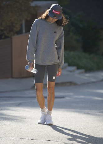 sweat the style blogger sportswear sweater shorts shoes