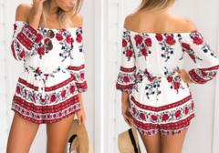 Rosa Off-the-Shoulder Romper – Dream Closet Couture