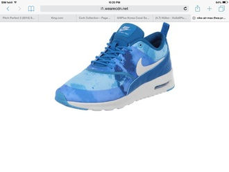 shoes nike nike air max thea blue blue shoes sneakers
