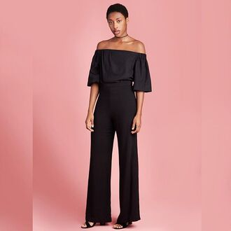 top silk black silk top off the shoulder top bell sleeves minimalist summer spring outfits black top summer outfits saul off the shoulder evening outfits