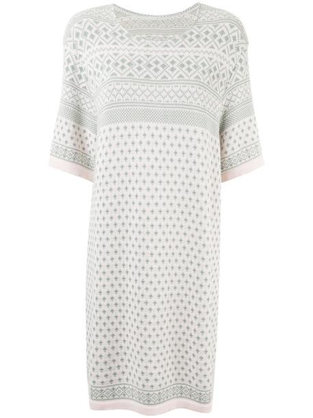 Zambesi - jacquard knitted dress - women - Cotton - One Size, Pink/Purple, Cotton