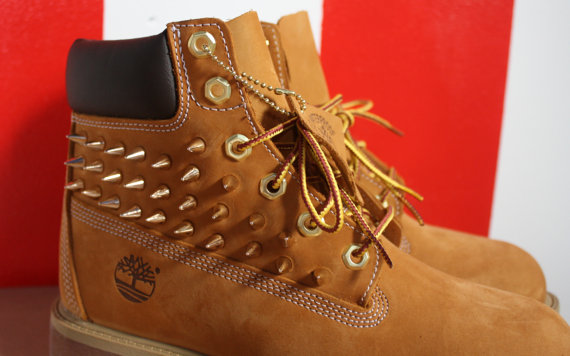 spiked studded timberland boots big