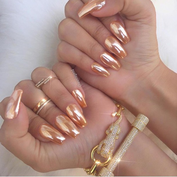 Nail Polish Pink Chrome Nails