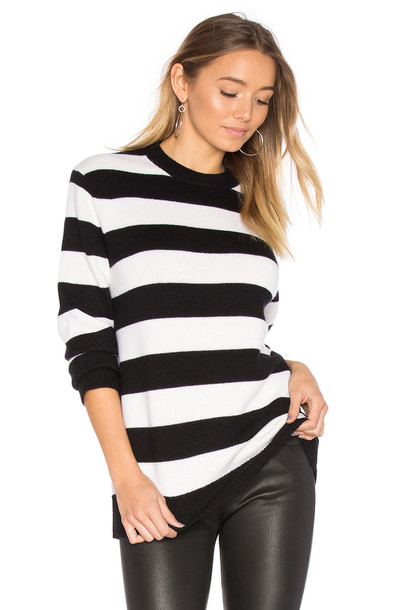 Rag & Bone Shana Cashmere Crew Sweater in black