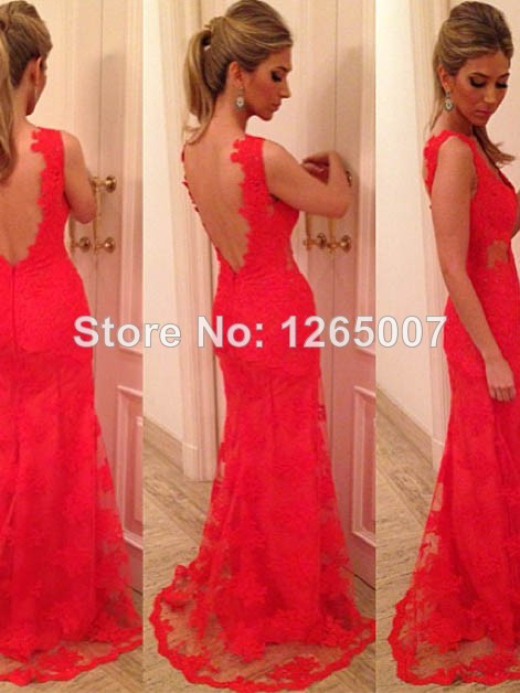 Aliexpress.com : Buy Fashion New Arrival V Neck See Through Waist Open Back Sexy A Line Lace Evening Dresses New Fashion from Reliable lace mini dress suppliers on SFBridal