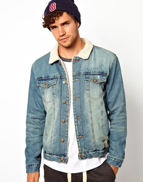Another Influence | Another Influence Denim Jacket With Borg Collar & Sherpa Lining at ASOS